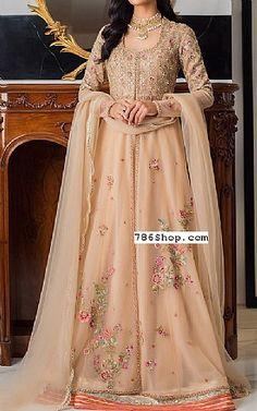 Light Golden Net Suit   Buy Pakistani Fashion Dresses and Clothing Online in USA, UK Pakistani Wedding Dresses Online, Pakistani Dresses Online Shopping, Online Dress Shopping, Designer Party Dresses, Indian Designer Outfits, Pakistani Designers, Bridal Outfits, Ladies Dress Design, Dress Making