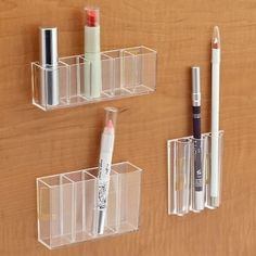 StickOnPods to turn your cabinets into storage space for your makeup collection.