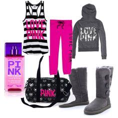 S secret pink - outfit workout clothes and outhers Victoria Secret Outfits, Victoria Secret Rosa, Victoria Secrets, Lazy Day Outfits, Pink Outfits, Winter Outfits, Cute Outfits, Outfits 2016, School Outfits