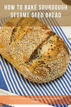 In this seeded bread recipe, you will learn how to bake sourdough sesame seed bread. The recipe contains both black and white sesame seeds for maximum taste and a pleasent visual approach. Seed Bread, Sourdough Bread, Bread Recipes, Seeds, Baking, Yeast Bread, Bakken, Bakery Recipes, Backen