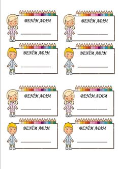 Pre School, Back To School, School Frame, Name Labels, Clip Art, Kids Education, Colorful Pictures, Classroom Management, Preschool Activities