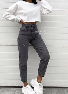 outfits for winter jeans 2020 Women Jeans Super Skinny Jeans Outfit Jeans Palazzo Cute Comfy Outfits, Teen Fashion Outfits, Cute Casual Outfits, Mode Outfits, Retro Outfits, Simple Outfits, Stylish Outfits, Casual Chic, Summer Outfits