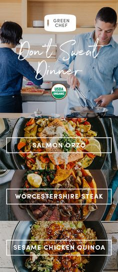 Sweat at the gym, not in the kitchen (gross). Cooking at home is a breeze with Green Chef. We deliver everything you need to cook organic, delicious, easy meals every week, including prepped, pre-measured ingredients. Make incredible dinners with time to spare. Sign up today for $50 OFF