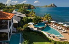 Paradise: Cap Maison estate of luxury apartments and hotel in the Caribbean run by Mr Goba... http://dailym.ai/S2FFLh#i-aabf0e71