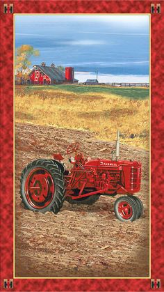 "International Harvester - On the Farm - 24"" x 44"" PANEL"