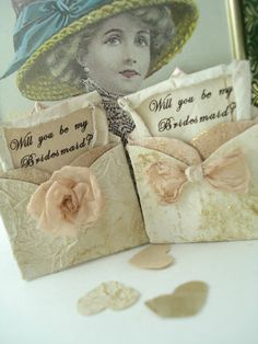SOLD OUT. Will You Be My Bridesmaid Miniature Envelope by TheRecycledRuffle