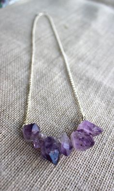 Natural Hand Made Amethyst Points Necklace by SoulHealingCreations