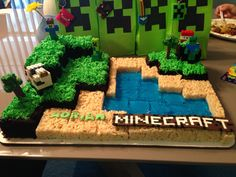 Minecraft cake for my son's 6th bday    #mysweetcreations
