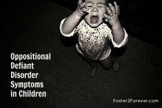 Symptoms of Oppositional Defiant Disorder in children