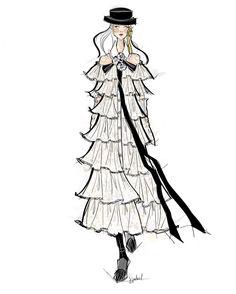 Illustration.Files: Chanel F/W 2016 Fashion Illustrations by Jessica Juliet