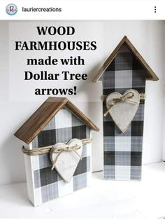 Dollar Tree Decor, Dollar Tree Crafts, Handmade Home, Wood Block Crafts, Scrap Wood Crafts, Wood Blocks, Dollar Tree Christmas, Xmas, Country Crafts