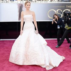 Oscars: Jennifer Lawrence -- I realized I'd pinned her interview, but not a picture of that gorgeous dress