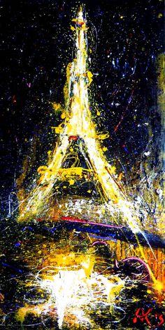 "Saatchi Art Artist Anastasia Kachina; Painting, ""Paris, SOLD"" #art"