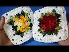 Squares em crochê Fácil, Fácil Com Passo a Passo /Do Caminho de Mesa Cerejeira/ #aldacilenecroche - YouTube