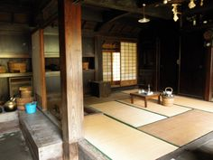 伊豆大島・郷土資料館・昔の家の内部