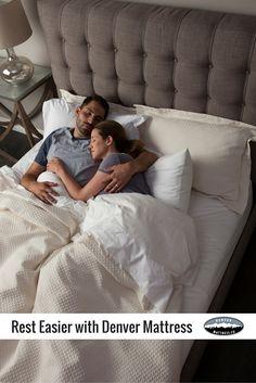 You'll Rest Easier with Denver Mattress. A better mattress, made from better materials, for a much better price.