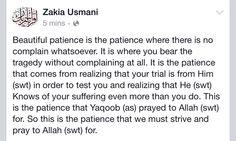 Beautiful patience