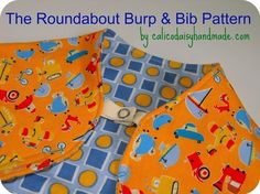 Roundabout Burp and Bib PDF Pattern and by thehandmadefair on Etsy, $6.00