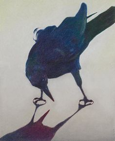 Crow Drawing - Deceit Of Conceit by Dona D Barnett