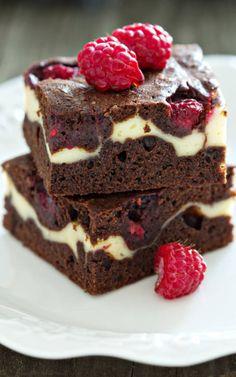Raspberry Cheesecake Brownies