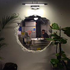 Home Decoration Online Shopping Cafe Interior Design, Interior Garden, Interior Architecture, Shop Interiors, Office Interiors, Industrial Interiors, Industrial Cafe, Cafe Concept, Vintage Cafe