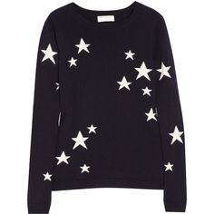 Chinti and Parker Star intarsia cashmere sweater ($545) ❤ liked on Polyvore