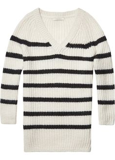 Maison Scotch Sweater stribet 100362 Oversized Pullover Home Alone combo A – Acorns