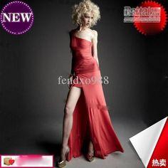 one shoulder long stybandage dresses