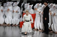 "A 2010 staging of ""Lohengrin"" at the Bayreuth Festival."