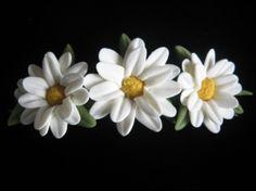 Cold Porcelain Daisy Barrette | Meylah