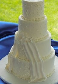 Cascading Ribbon Wedding cake #cakes, #food, apps.facebook.com…