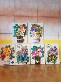 Paper Quilling Patterns, Quilling Paper Craft, Quilling Flowers, Quilling Cards, Felt Flowers, Paper Crafts, Quilling Videos, Projects To Try, Arts And Crafts