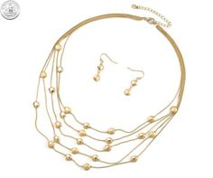 510505 NECKLACE/EARRINGS - GOLD