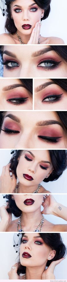Linda Hallberg awesome red makeup