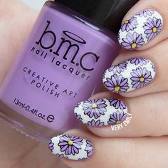 Reverse Floral Stamping ~ using Bundle Monster BM-S311 plate – Musik City Collection ~ by Very Emily »