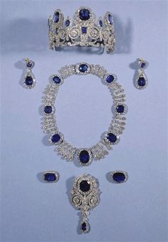 French royal sapphires, tiara from Empress Josephine, later worn by Queen Horthense & Queen Marie Amelie of the France.