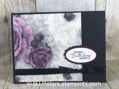 Love the retiring Timeless Elegance designer series paper - so simple!  Check out how simple it is!