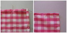 Mantel y servilletas de tela con puntilla a ganchillo hecho a mano tutorial hazlo tu mismo diy accesorios complementos lolahn handmade - coser dobladillo