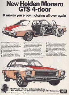 1972 Holden HQ Monaro GTS 350 Ad