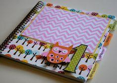 First Birthday Girl/Birthday Album Photo Book and Journal - PENELOPE Design on Etsy, $29.00