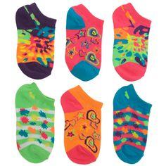 Payless Girls Neon Mix 'n Match Socks @Pacific Legwear