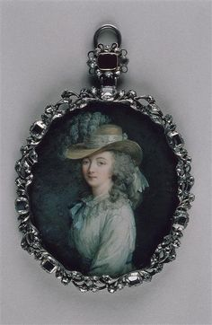 Miniature portrait of Madame du Barry, Louis XV's last mistress