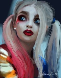 Image de harley quinn, suicide squad, and art