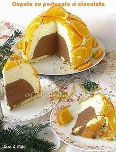 Cupola of orange and chocolate My Favorite Food, Favorite Recipes, Dessert Drinks, Desserts, Good Food, Yummy Food, Romanian Food, Romanian Recipes, Sweet Tooth
