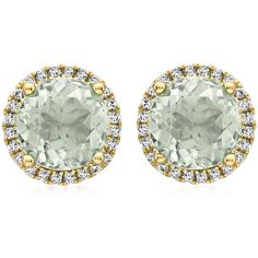 Kiki McDonough Grace Green Amethyst Stud Earrings with Diamonds (€1.140) ❤ liked on Polyvore featuring jewelry, earrings, joias, stud earrings, 18 karat gold stud earrings, earrings jewelry, pave earrings, pave diamond earrings and diamond jewellery