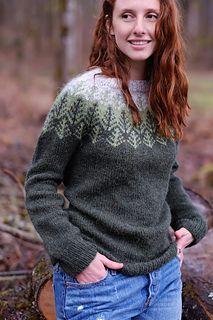 Skógafjall sweater knitting pattern by Dianna Walla