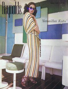 VINTAGE 70s KNITTING PATTERNS REYNOLDS KUTU FRINGED VERSAILLES PATTERN | eBay