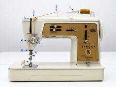 Con esta entrada explicaremos cómo se enhebra una máquina de coser antigua. Todas las máquina de coser se asemejan a la hora de enh... Sewing Machine Tables, Bad Photos, Diy And Crafts, Liberty, Models, Couture, Vestidos, Crochet Pillow, Embroidered Bag