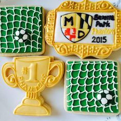 soccer cookie set | Cookie Connection