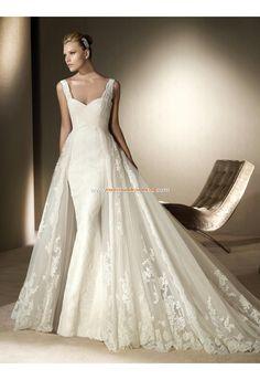 Robe de mariée tulle dentelle avec dentelle
